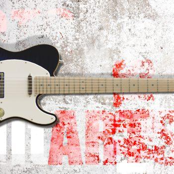 blue guitar rendering