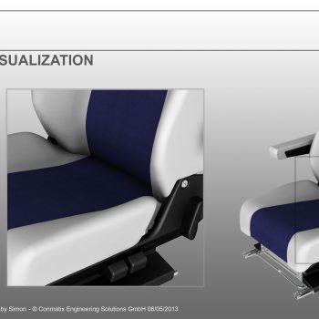 NX Car seat rendering